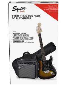 PACK GUITARRA ELECTRICA SQUIER BY FENDER AFFINITY SERIES STRATOCASTER HSS BSB 15G